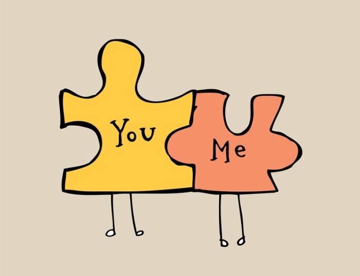 Puzzle pieces You Me